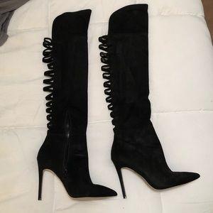 ALDO over-the-knee black stiletto boot